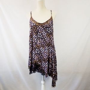 Free People One Floral Beaded Tunic size Large